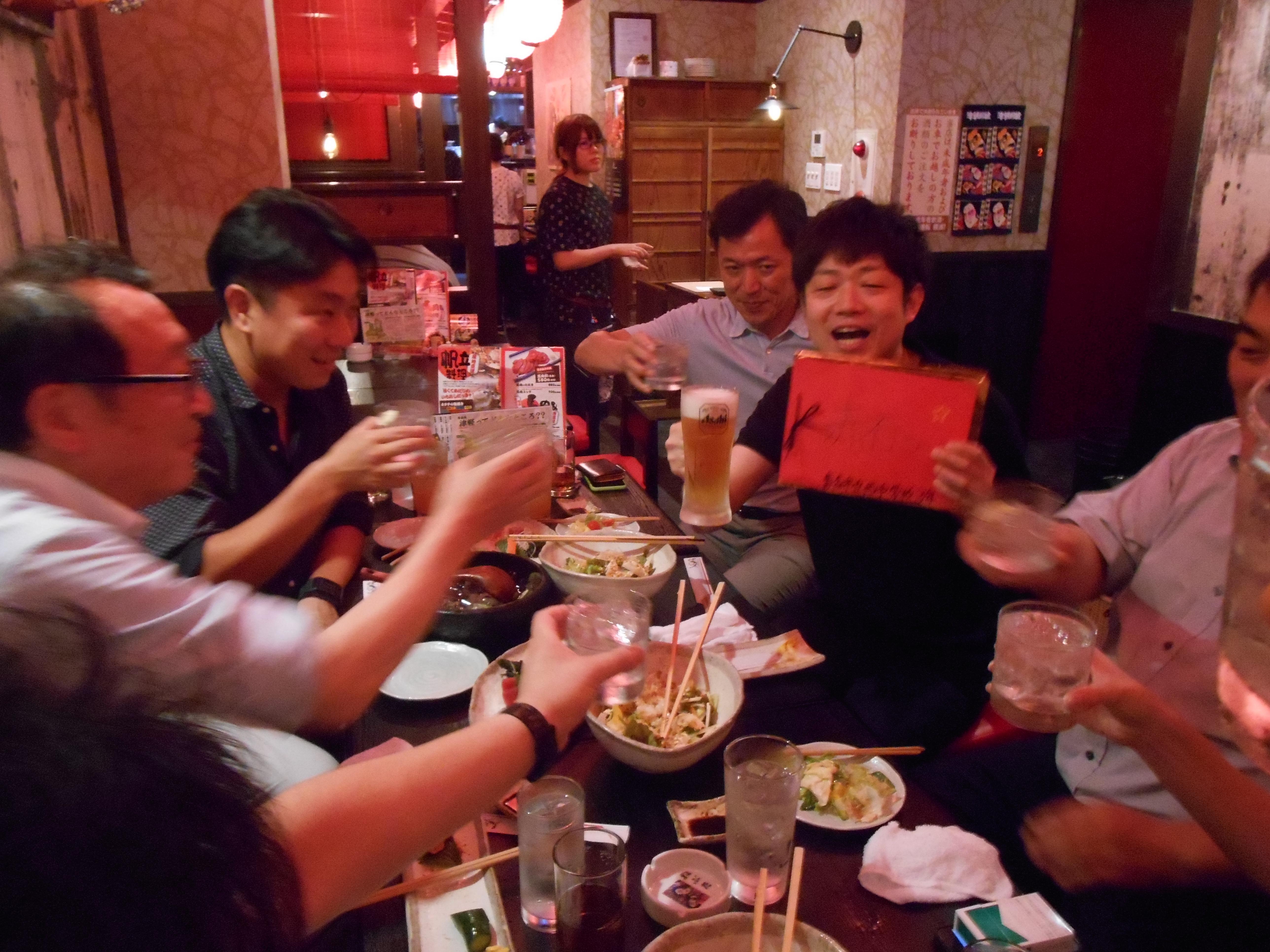 2015年7月13日(月)AOsuki定例飲み会開催しました。