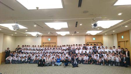 2019年4月23日青森市立三内中学校の130人の生徒さんにAFS開催しました。